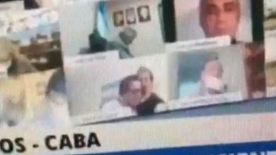 Photo of Argentinian politician suspended after kissing breasts during parliament session