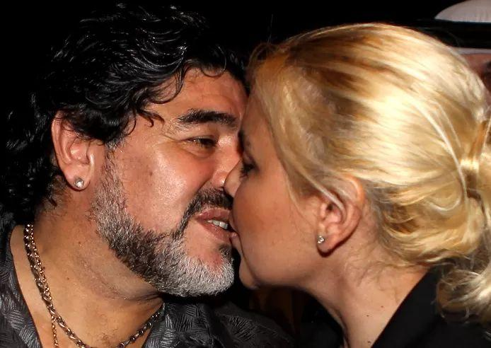 Maradona and his then girlfriend Verónica Ojeda in Dubai