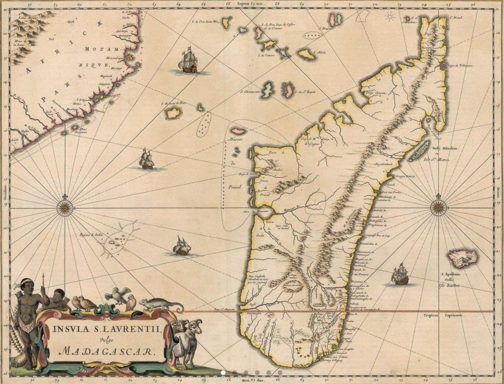 Map of island, Pirate Utopia of Madagascar