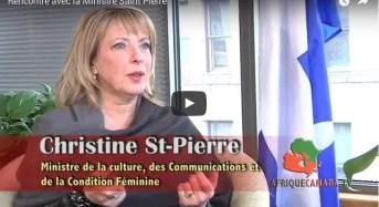 Rencontre avec la Ministre Saint Pierre