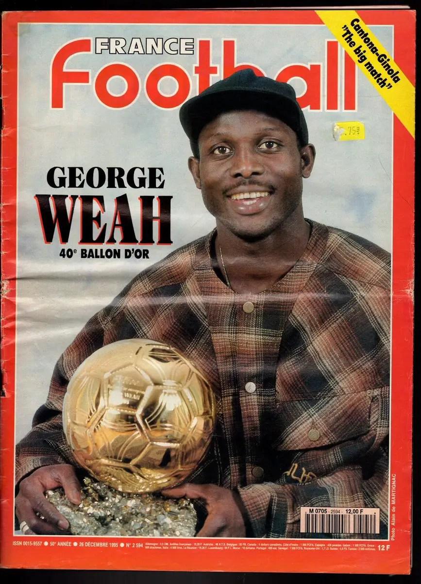 """STAT : George Weah donne """"son"""" ballon d'Or à Salah et Sadio Mané"""