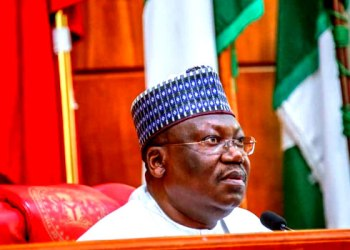 A file photo of the Senate President, Ahmad Lawan, during plenary at the upper chamber of the National Assembly in Abuja.