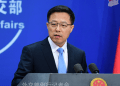 A file photo of Chinese foreign ministry spokesman, Lijian Zhao.