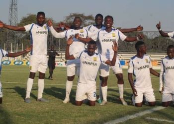 NAPSA Stars went top of the FAZ/MTN Zambian Super League after defeating Buildcon 2-0. COURTESY: Instagram/Football Association of Zambia