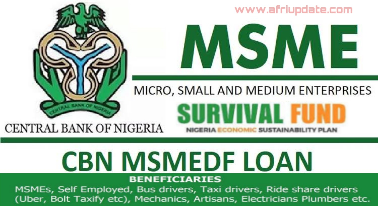 FG ₦75bn MSME Survival Fund Portal, See How To Apply