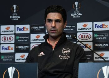 Arteta won't be helped by a number of injury concerns this evening.(Image: David Price/Arsenal FC via Getty Images)