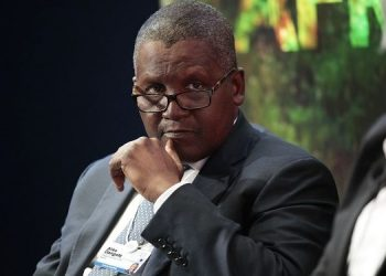 A file photo of African Richest man, Aliko Dangote