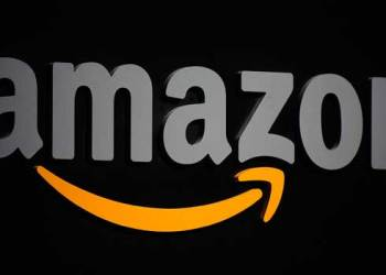 FILES) In this file photo taken on September 28, 2011 the Amazon logo is seen on a podium during a press conference in New York. Emmanuel DUNAND / AFP