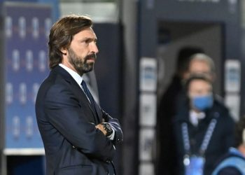 Juventus' coach Andrea Pirlo (Photo by Giovanni ISOLINO / AFP)
