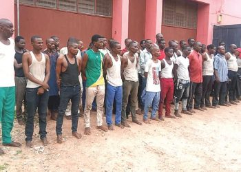 Suspected fleeing bandits, apprehended by Amotekun Corps at the gate of the Army Barracks, Okitipupa, set to be repatriated to Kano and Jigawa states.