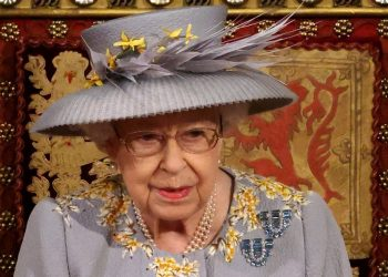 [FILES] Britain's Queen Elizabeth II waits to read the Queen's Speech on the The Sovereign's Throne in the House of Lords chamber,, during the State Opening of Parliament at the Houses of Parliament in London on May 11, 2021, which is taking place with a reduced capacity due to Covid-19 restrictions. – The State Opening of Parliament is where Queen Elizabeth II performs her ceremonial duty of informing parliament about the government's agenda for the coming year in a Queen's Speech. (Photo by Chris Jackson / POOL / AFP)