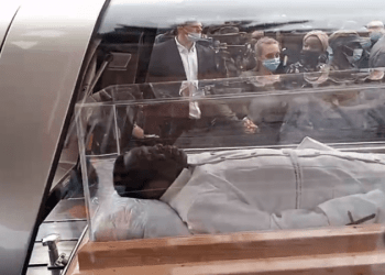 TB Joshua's Burial: Corpse Arrives Synagogue Church For Lying-In-State (PHOTOS)