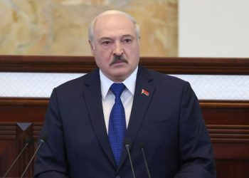 """Belarusian President Alexander Lukashenko speaks during his meeting with parliamentarians, members of Constitutional Commission and representatives of public administration bodies in Minsk on May 26, 2021. – Alexander Lukashenko said on May 26 that """"attacks"""" on the country have crossed """"red lines"""" after the diversion of a Ryanair flight over Belarusian airspace sparked a global outcry. (Photo by Maxim GUCHEK / BELTA / AFP)"""