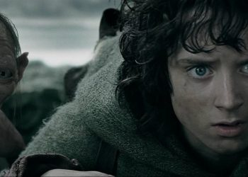 Frodo Baggins and Gollum in Lord of the Rings