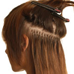 Extensions Were Applied In Alternating Shades Of Mid And Dark Brown Ensuring The Probe Only Touched Bond Another Section Was Taken A Centimeter Above