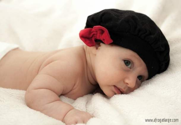 French baby with beret