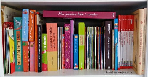 French children's bookshelf