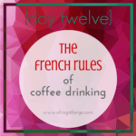 French coffee rules
