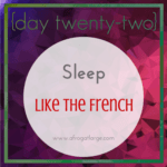 Sleep tips from the French
