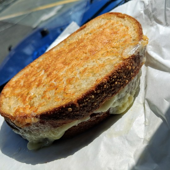 Crispy Grilled Cheese Sammich Afro Geeks
