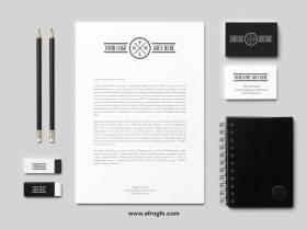 Black & White Branding Mock-Up