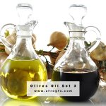 Olives Oil Set 3 Stock Photo