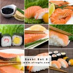 Appetizing Sushi Set 3 Stock Photo