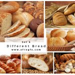 Different Bread Set 6 Stock Photo