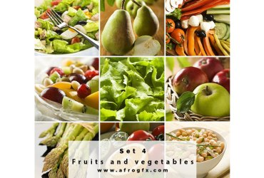Fruits and vegetables 4 Stock Photo
