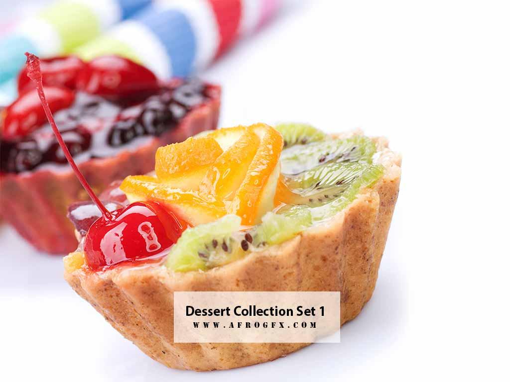 Dessert Collection Set 1 Stock Photo