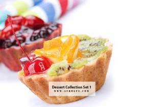 Dessert Collection Set 1 Stock Photo