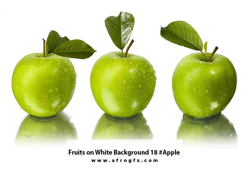 Fruits on White Background 18 #Apple