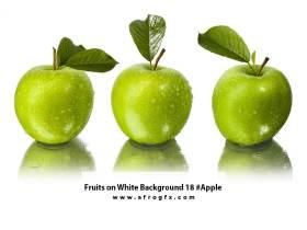 Fruits on White Background 18 #Apple