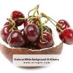 Fruits on White Background 34 #Cherry