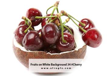 Fruits on White Background 34 #Cherry