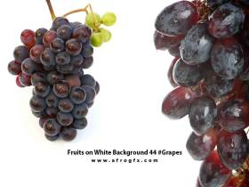 Fruits on White Background 44 #Grapes