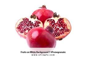 Fruits on White Background 7 #Pomegranate