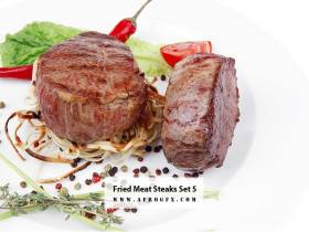 Fried Meat Steaks 5