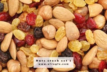 Nuts stock set 1 Stock Photo