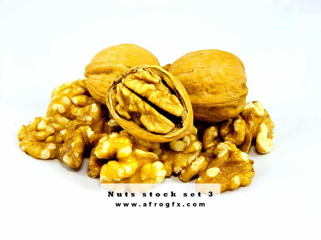 Nuts stock set 3 Stock Photo