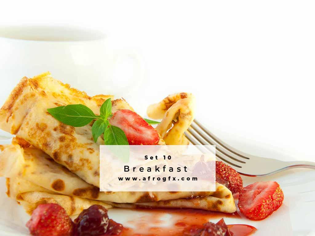 Breakfast Set 10 Stock Photo