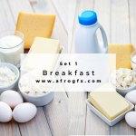Breakfast Set 1 Stock Photo