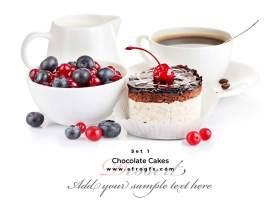 Chocolate Cakes Set 1 Stock Photo