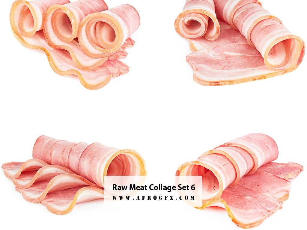 Raw Meat Collage Set 6