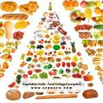 Vegetables fruits - Food Collage Concepts