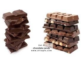 Chocolate and chocolate candy Set 2 Stock Photo