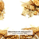 Different Bread with wheat grain Set 2