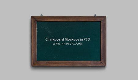 Chalkboard Mockups in PSD