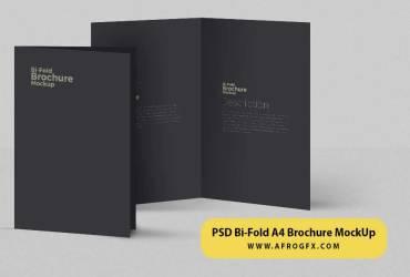 Free Bi fold A4 Brochure Mockup PSD