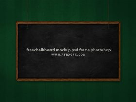 free chalkboard mockup psd frame photoshop
